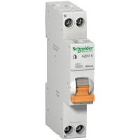 Диференціальний автомат Schneider Electric АД63К 1 + N 20A 30MA C 18мм (12523)