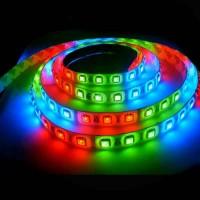 Світлодіодна стрічка SMD 5050-60 RGB 220В IP68, 1м