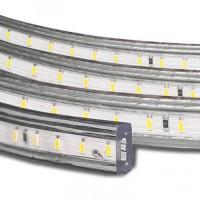 Світлодіодна стрічка 220В SMD 5730-52 теплий білий IP67 1м