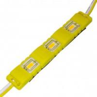 Світлодіодний модуль 5630-3 led Y 1,5W, 12В, IP65 жовтий закритий з лінзою Biom