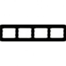 Четверна горизонтальна / вертикальна рамка чорний глянець oscar lxl