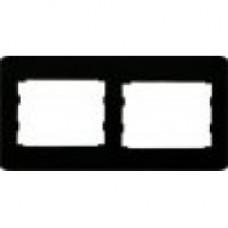 Подвійна горизонтальна / вертикальна рамка чорний глянець oscar lxl