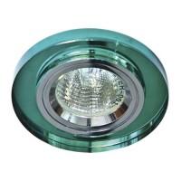 Вбудований світильник Feron 8060-2 зелене срібро
