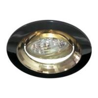 Вбудований світильник Feron DL2009 чорний металлік
