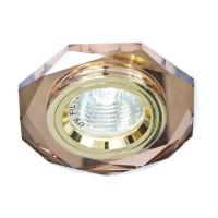 Вбудований світильник Feron 8020-2 коричневий-золото