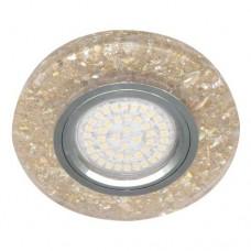 Вбудований світильник Feron 8585-2 з LED підсвічуванням золото