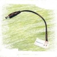 """Конектор для світлодіодної стрічки 10мм затиск - mini Jack """"мама"""" через провід 15см"""