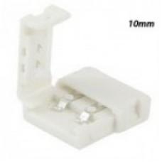 Конектор для світлодіодної стрічки 10mm зажим-зажим
