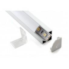 Профіль для світлодіодної стрічки алюмінієвий кутовий з рассеевателем