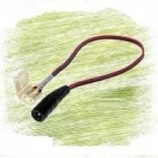 """Конектор для світлодіодної стрічки 8мм затиск - mini Jack """"мама"""" через провід 15см"""