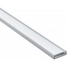 Профіль для світлодіодної стрічки алюмінієвий прямий з рассеевателем