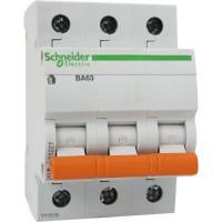 Автоматичний вимикач Schneider ВА63 3р 10А С
