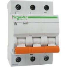 Автоматичний вимикач Schneider ВА63 3р 50А С