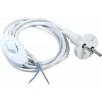 Шнур з вимикачем білий для бра 1.5м