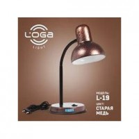 "Настільна лампа ТМ LOGA Light L-19 ""Стара мідь"""