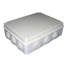 Коробка розподільна для зовнішнього монтажу 255x200x80мм з гумками IP65