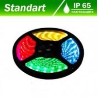 Світлодіодна стрічка 12В B-LED 5050-30W RGB IP65, 1м