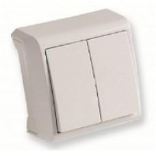 VIKO VERA зовнішній двоклавішний вимикач