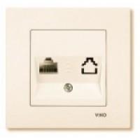 VIKO KARRE Розетка комп'ютерна одинарна (білий/крем)
