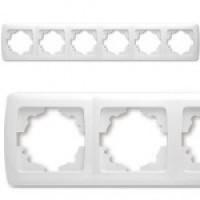 Рамка шестерні горизонтальна VIKO CARMEN (білий/крем)