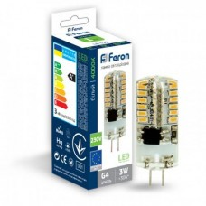 Cвітлодіодна лампа LED Feron LB-522 230V 3W 48leds G4 2700K 240lm