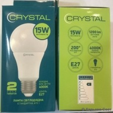 Cвітлодіодна лампа LED CRYSTAL 15W E27 4000K 220V