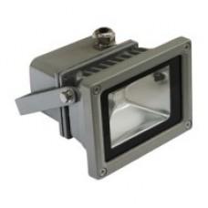 Прожектор світлодіодний Feron LL-180 1LED 10W RGB (+ пульт) 230V Срібло IP44