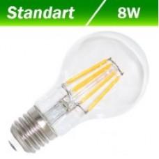 Світлодіодна лампа Filament А60 8W E27 3000К BIOM FL-311