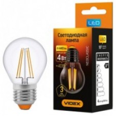 Cвітлодіодна лампа LED VIDEX Filament G45F 4W E27 3000K 220V