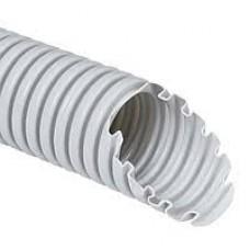 Труба гофрована ПВХ 32мм з протяжкою сіра
