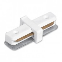 Конектор прямий Feron LD1004 для вбудованого шинопровіда однофазного, білий