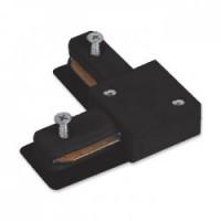 Конектор Feron кутовий LD1005 для вбудованого шинопровіда однофазного, чорний