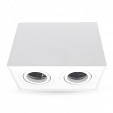 Світильник LED накладний Feron ML305-2 MR16/GU10 білий, квадрат, подвійний, поворотний
