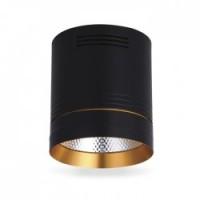 Світильник LED накладний Feron AL542 COB 10W чорний+золото 850Lm 4000K