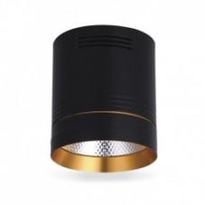 Світильник LED накладний Feron AL542 COB 18W чорний+золото 1530Lm 4000K
