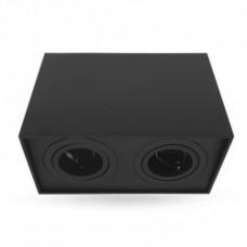 Світильник LED накладний Feron ML305-2 MR16/GU10 чорний, квадрат, подвійний, поворотний
