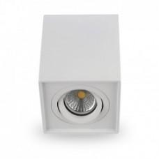 Світильник LED накладний Feron ML305 MR16/GU10 білий, квадрат, поворотний