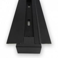 Шинопровід однофазний вбудований Feron CAB1004 для трекових світильників, чорний 2м