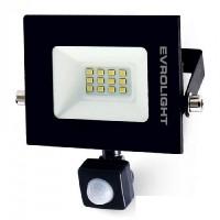 Прожектор світлодіодний EVROLIGHT 10Вт з датчиком руху EV-10D 6400К