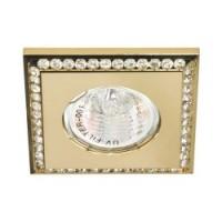 Вбудований світильник Feron DL102-C MR16 прозорий-золото  Max 50W