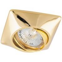Вбудований світильник Feron DL6046 MR16/G5.3 /золото поворотний