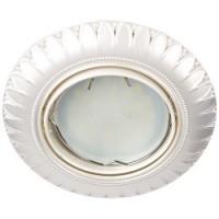 Вбудований світильник Feron DL6051 MR16/G5.3 / перлине срібло поворотный