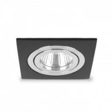 Вбудований світильник Feron DL6120 MR16 чорний, квадрат поворотний G5.3