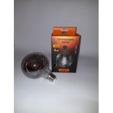 LED лампа VIDEX Filament G95FGD 4W E27 2100K Діммерная графіт