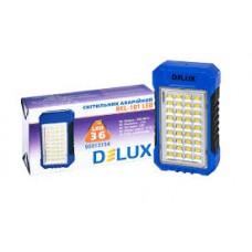 Лед світильник DELUX REL-101 (4V2.4Ah) 36 LED 4W 69x37x125