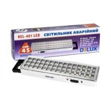 Лед світильник DELUX REL-401 (3.7V1,5Ah) 45 LED 3W 230x65x30