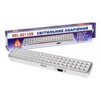 Лед світильник DELUX REL-601 (3.7V2Ah) 60 LED 4W 360x65x35