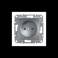 Розетка SCHNEIDER ASFORA EPH3000162 без з/к сталь