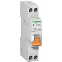 Диф автомат Schneider Electric АД63К 1P + N 25A 30mА C 18мм