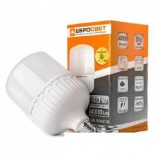 Лампа світлодіодна високопотужна евросвет 40Вт 6400К EVRO-PL-40-6400-40 Е40